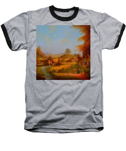 Concerning Hobbits Baseball T-Shirt by Joe Gilronan
