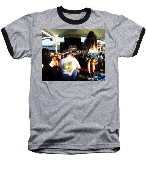Concert Crowd Baseball T-Shirt