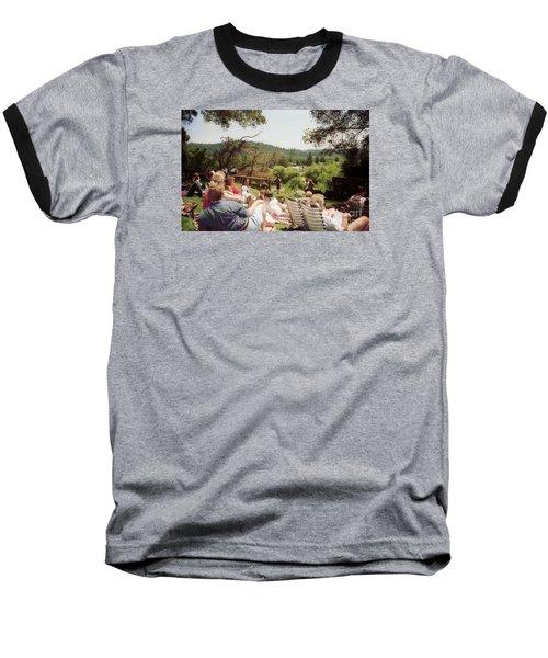 Concert Patrons Rest In The Sun Baseball T-Shirt