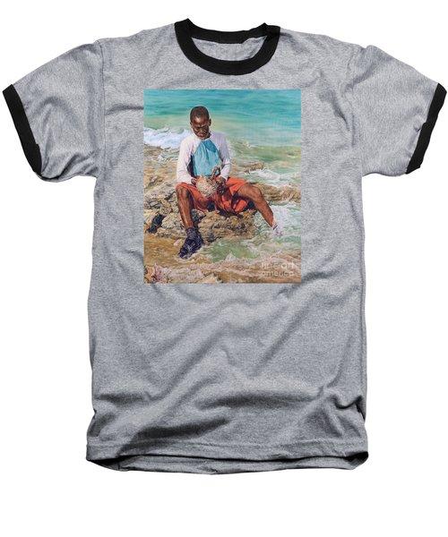 Conch Boy II Baseball T-Shirt