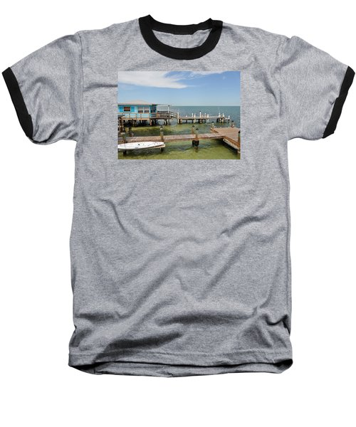 Conch Key Blue Cottage Baseball T-Shirt