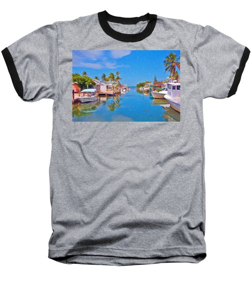 Conch Key Waterfront Living 3 Baseball T-Shirt
