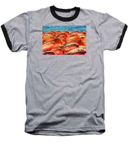 Conch Parade Baseball T-Shirt by Jeremy Lavender Photography