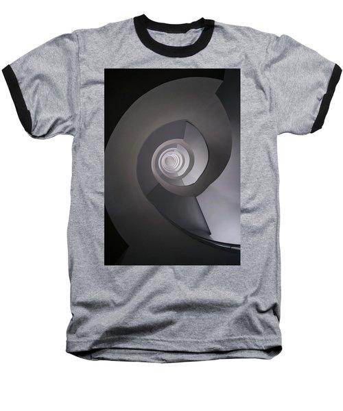 Concrete Abstract Spiral Staircase Baseball T-Shirt by Jaroslaw Blaminsky