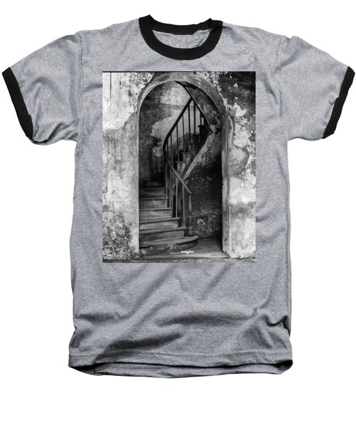 Concrete And Stairwell Baseball T-Shirt