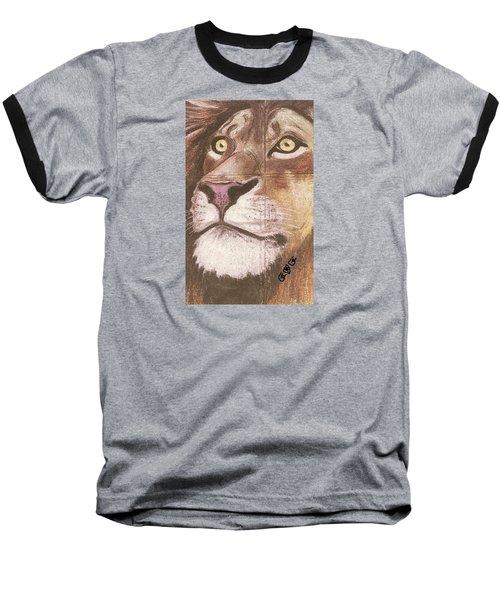 Concrete Lion Baseball T-Shirt
