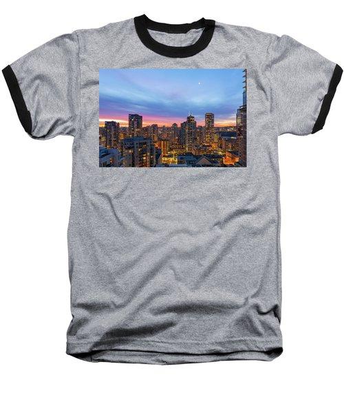 Condominium Buildings In Downtown Vancouver Bc At Sunrise Baseball T-Shirt