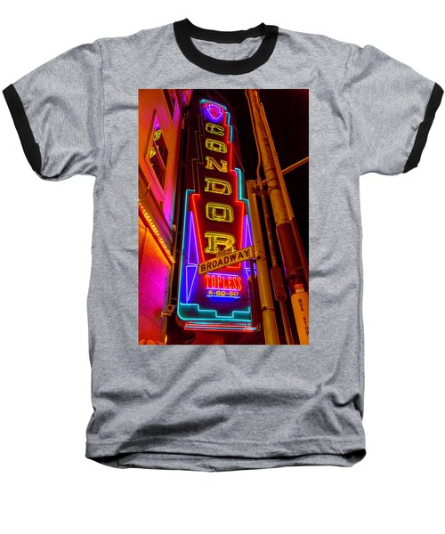 Condor Neon On Broadway Baseball T-Shirt