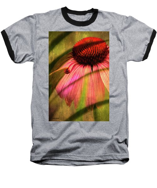 Cone Flower And The Ladybug Baseball T-Shirt