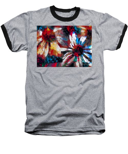 Cone Flower Fantasia I Baseball T-Shirt by Jack Torcello