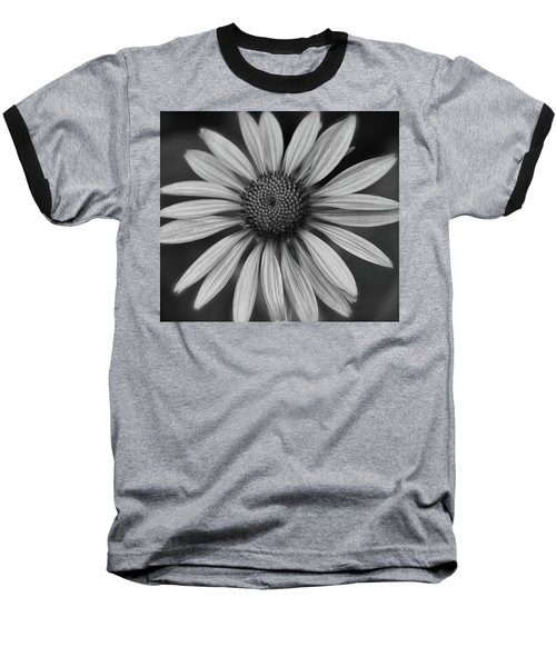 Coneflower In Black And White Baseball T-Shirt
