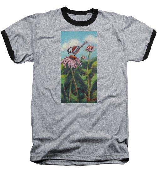 Coneflower Peep Baseball T-Shirt