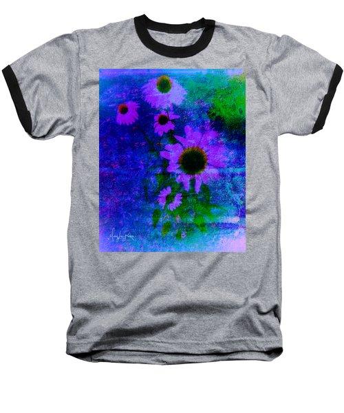 Coneflowers Abstract Baseball T-Shirt