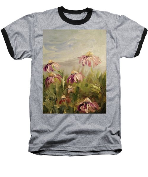 Baseball T-Shirt featuring the painting Coneflowers by Donna Tuten