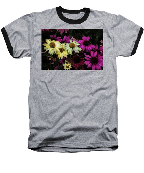 Baseball T-Shirt featuring the photograph Coneflowers by Jay Stockhaus