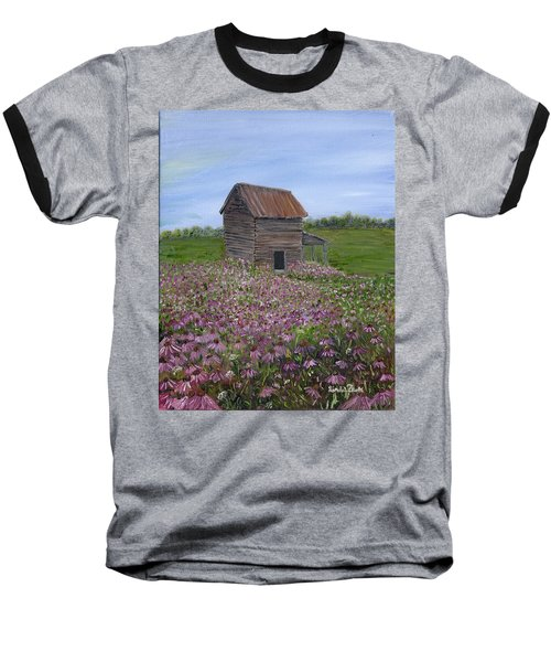 Coneflowers Baseball T-Shirt