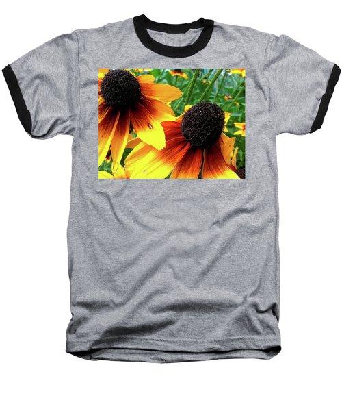 Baseball T-Shirt featuring the photograph Coneflowers by Robert Knight