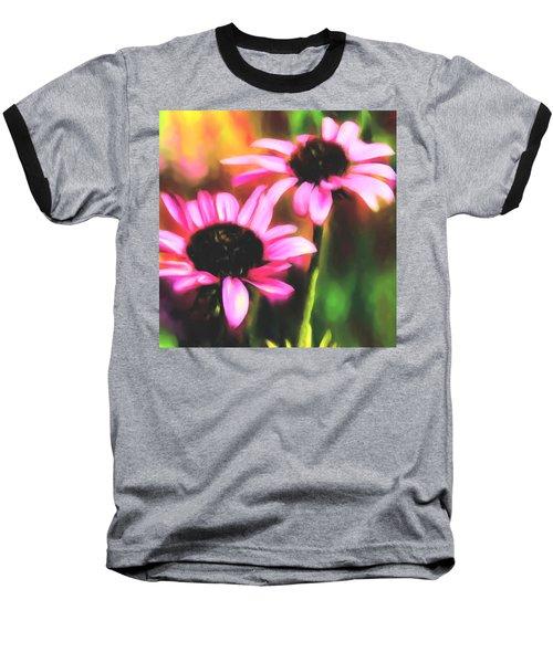 Coneflowers Baseball T-Shirt