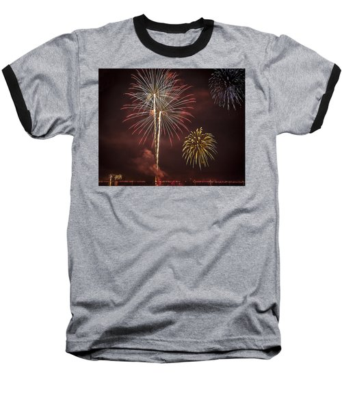 Conesus Ring Of Fire 2015 Baseball T-Shirt by Richard Engelbrecht