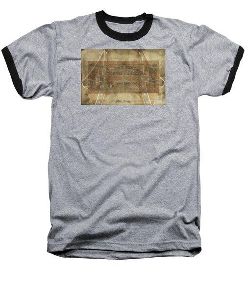 Baseball T-Shirt featuring the digital art Confederate $1 North Carolina Note by Melissa Messick