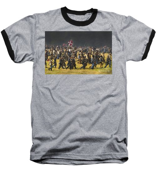 Confederate Charge At Gettysburg Baseball T-Shirt by Paul W Faust -  Impressions of Light