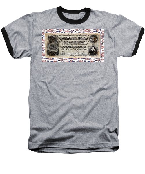 Confederate Money Baseball T-Shirt