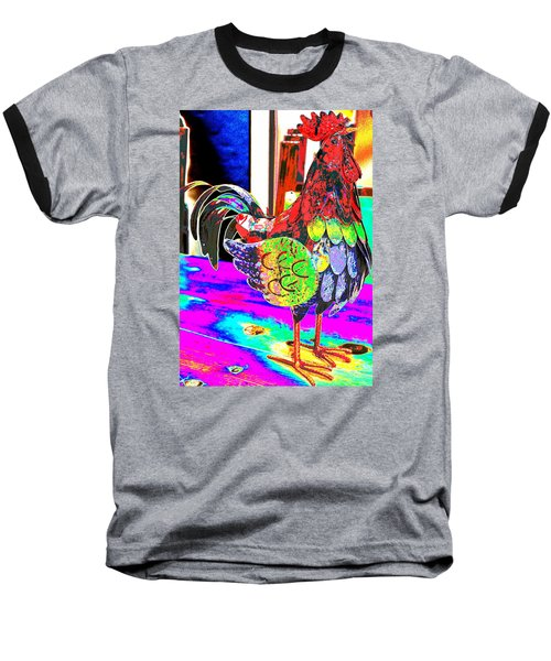 Baseball T-Shirt featuring the photograph Confetti Rooster by M Diane Bonaparte