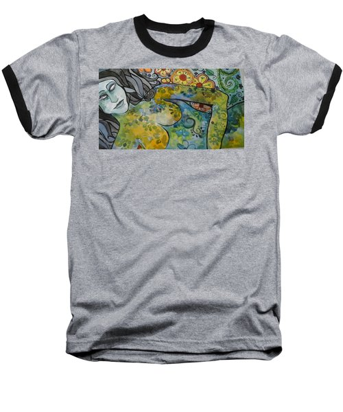 Conflict Baseball T-Shirt by Claudia Cole Meek