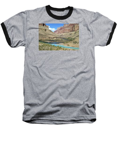 Confluence Of Colorado And Little Colorado Rivers Grand Canyon National Park Baseball T-Shirt