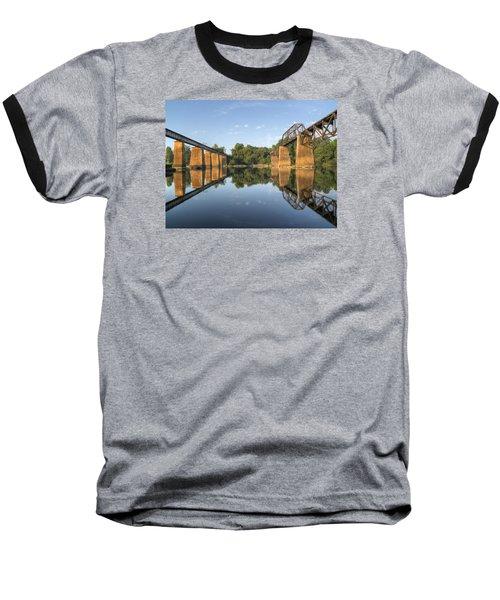 Congaree River Rr Trestles - 1 Baseball T-Shirt by Charles Hite