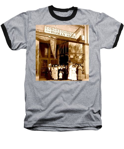 Congressional Union For Woman Suffrage Colorado Headquarters 1914 Baseball T-Shirt