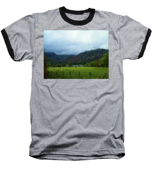 Coniston Watercolour Sketch Baseball T-Shirt