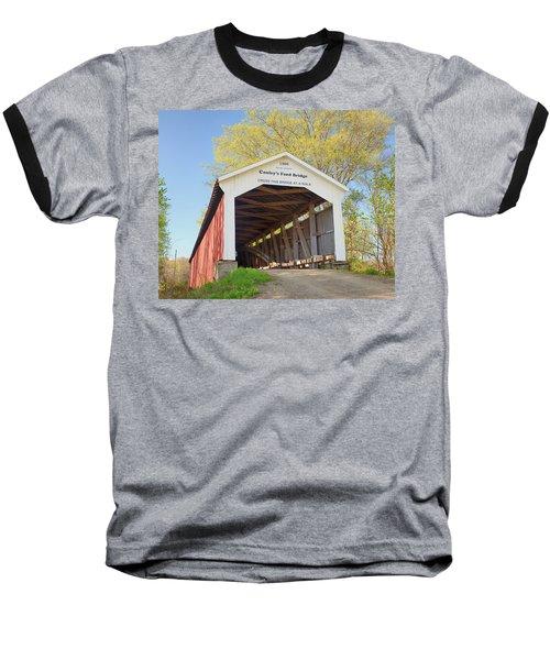 Conley's Ford Covered Bridge Baseball T-Shirt by Harold Rau