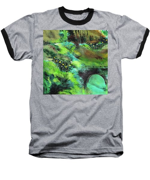 Baseball T-Shirt featuring the painting Connect by Anil Nene
