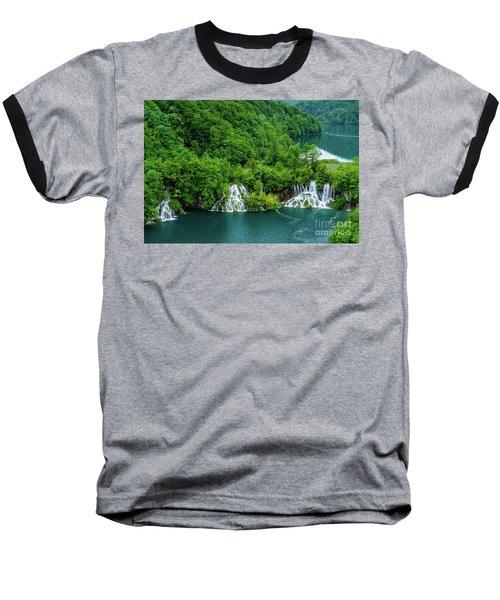 Connected By Waterfalls - Plitvice Lakes National Park, Croatia Baseball T-Shirt
