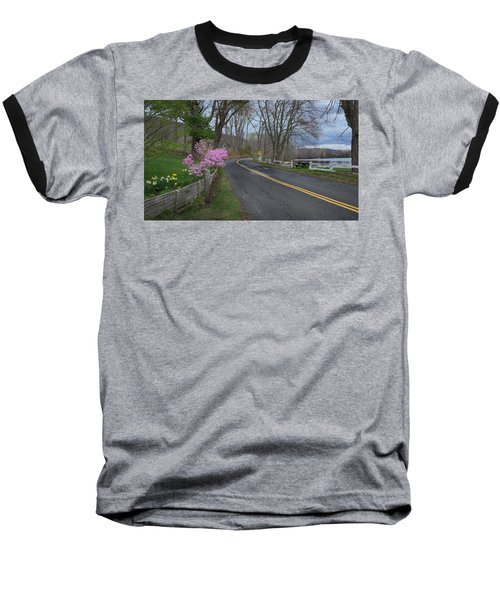 Baseball T-Shirt featuring the photograph Connecticut Country Road by Bill Wakeley