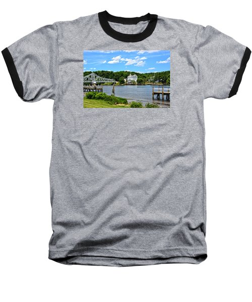 Connecticut River - Swing Bridge - Goodspeed Opera House Baseball T-Shirt
