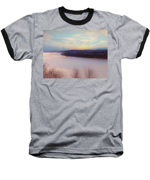 Connecticut River View From Gillette Castle. Baseball T-Shirt