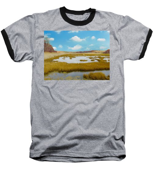 Connecticut Salt Water Marsh Baseball T-Shirt