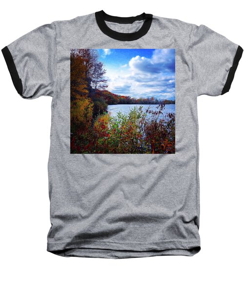 Conservation Park And Pine River In The Fall Baseball T-Shirt