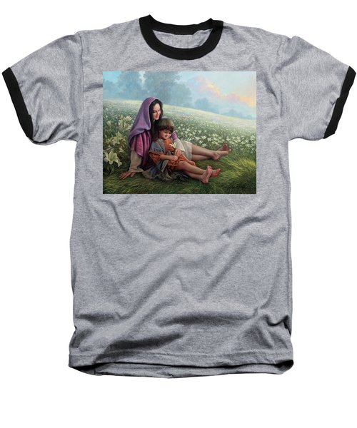 Consider The Lilies Baseball T-Shirt by Greg Olsen