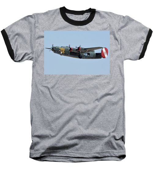 Baseball T-Shirt featuring the photograph Consolidated B-24j Liberator N224j Witchcraft Phoenix-mesa Gateway Airport Arizona April 15 2016 by Brian Lockett