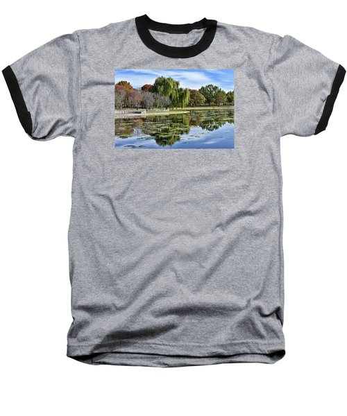 Constitution Gardens On The National Mall Baseball T-Shirt by Brendan Reals