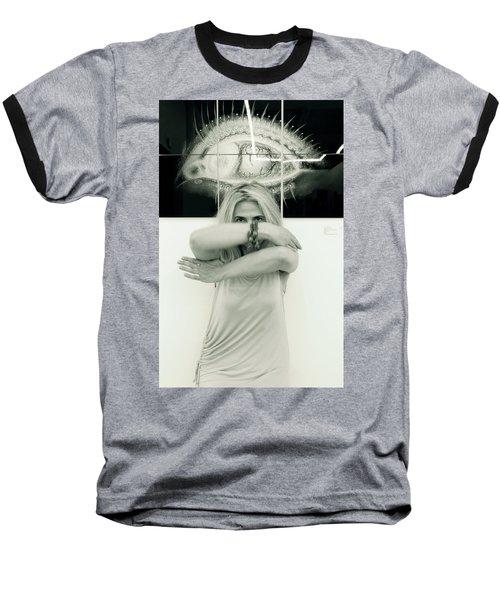 Contact Baseball T-Shirt by Yelena Tylkina