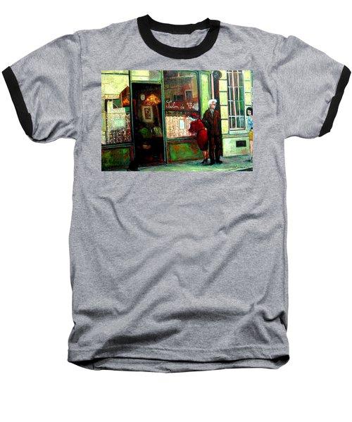 Contemplando El Menu-looking Up The Menu Baseball T-Shirt by Walter Casaravilla
