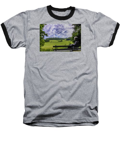 Contemplating The Beautiful Scenery Baseball T-Shirt
