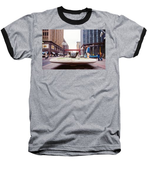 Contemplating The Fountain At 8th And Nicollet. Baseball T-Shirt