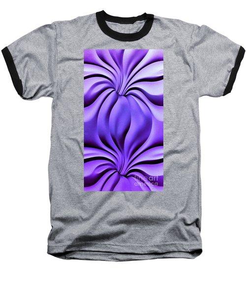 Contemplation In Purple Baseball T-Shirt