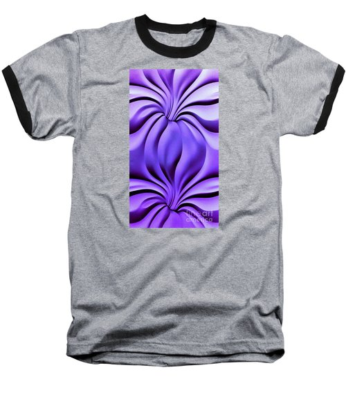 Baseball T-Shirt featuring the photograph Contemplation In Purple by Roberta Byram