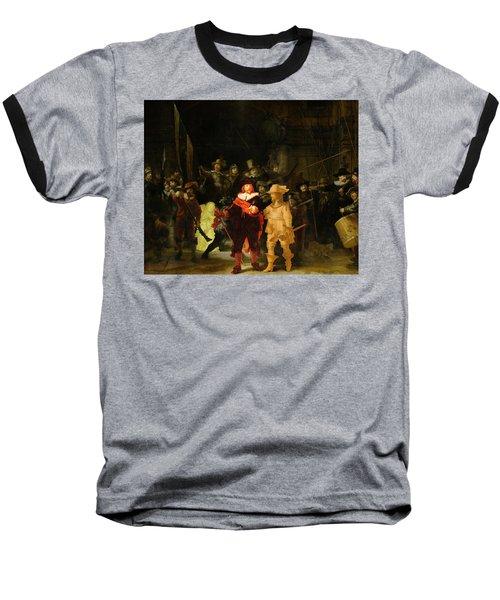Contemporary 1 Rembrandt Baseball T-Shirt by David Bridburg